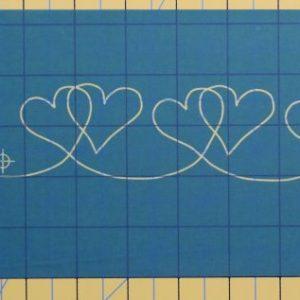 heart stencil border